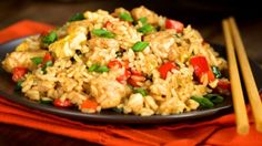 This easy and healthy Pork Fried Rice is ready in less than 15 minutes with tender pork tenderloin, lots of veggies, and brown rice. Vegetable Fried Rice, Fried Vegetables, Chicken And Vegetables, Veggies, Rice Recipes For Kids, Egg Recipes For Dinner, Dinner Ideas, Lunch Ideas, Rice Dishes