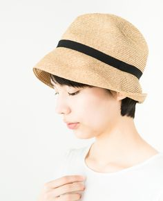 mature ha. BOXED HAT 7cm brim ブラック