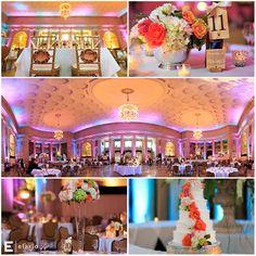summer wedding, silver wedding decor, orange rose centerpieces #colorfulwedding #fleurtaciousdesigns - Elario Photography
