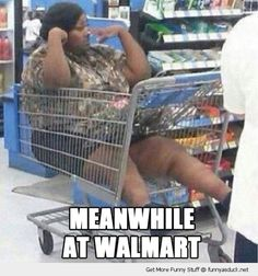 "Meanwhile at Walmart.I wondered when People of Walmart would make a come-back? ""Come-back, I hate that word, it's return.""--From the Sunset Boulevard Walmart nearest you! See it with someone you don't love! Meanwhile In Walmart, Only At Walmart, People Of Walmart, Funny People, Walmart Funny, Weird People, Ghetto People, People People, Haha Funny"