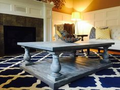 Balustrade Coffe Table in Driftwood Gray | Do It Yourself Home Projects from Ana White