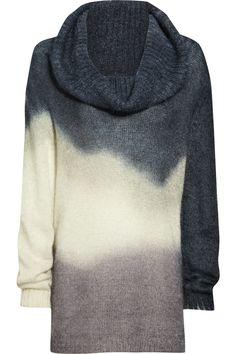 Dégradé mohair-blend sweater