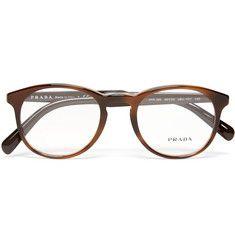 38291a9cfc Prada - Round-Frame Acetate Optical Glasses Designer Glasses For Men
