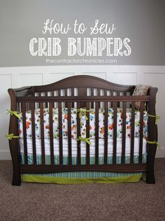 How to sew crib bumpers copy