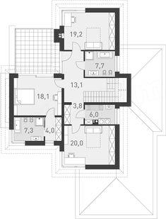 Projekt domu Wyjątkowy 3 203,5 m2 - koszt budowy - EXTRADOM My Dream Home, Planer, House Plans, Floor Plans, House Design, Flooring, How To Plan, Dream Houses, Architecture
