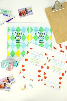 Get these free gift card printables for back to school gifts!