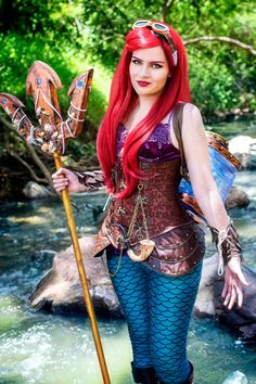 Steampunk Ariel Cosplay by Michiko Cosplay Photo and edit by GiantShev Photography Steampunk Ariel - The Little Mermaid [Photography] Steampunk Cosplay, Style Steampunk, Steampunk Clothing, Steampunk Fashion, Steampunk Diy, Ariel Cosplay, Cosplay Anime, Disney Cosplay, Best Cosplay
