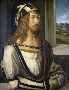 Albrecht Dürer (1471-1528, Germany) | Self-portrait, 1498 (Madrid, Prado)