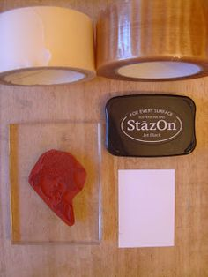 The Technique Zone: Tape Lift Stamping Technique This would be a great way to reverse an image I want to stamp multiple times (flowers or butterflies).