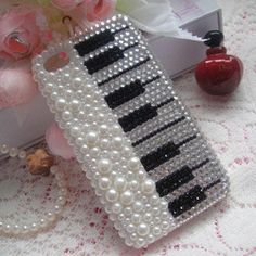 Bling Crystal Rhinestone pianoCover for Apple Iphone