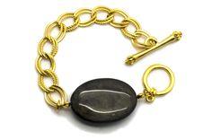 Golden Sheen Obsidian Bracelet