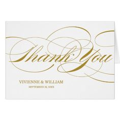 SCRIPT THANKS | WEDDING THANK YOU NOTE CARDS