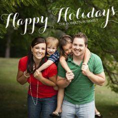 Mixbook Happy Holiday Script Holiday Photo Cards