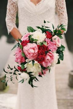large beautiful, and pink! bouquet shape | photography by Adam Barnes via @Style Me Pretty