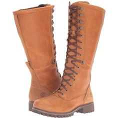 df959f90e47f Timberland Wheelwright Tall Lace Waterproof Boot (Burnt Orange Full Grain)  Women s Waterproof Boots