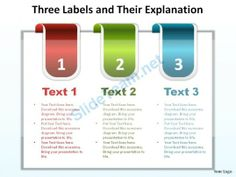 three labels reb blue green with tabs and their explanation ppt slides diagrams templates powerpoint info graphics