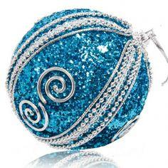 8CM Christmas Ball Foam Ball Christmas Tree Decoration Blue