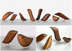Jacob Hermann birds, 1950s. Click on the image if you like mid-century modern furniture.