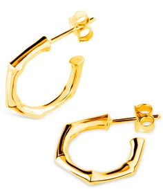 Dinny Hall Small Gold-Plated Round Bamboo Hoops | Accessories | Liberty.co.uk
