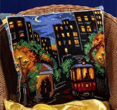 Набор для вышивания крестом Panna ПД-1454 Белые ночи  (Подушка)