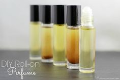 Natural & Exquisite DIY Roll-On Perfumes made with Essential Oils! ❤ purasentials.com ❤ essential oils with love