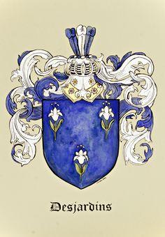 Custom coat of arms by Jamie Hansen https://www.etsy.com/shop/JamieHansen