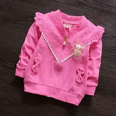 Find More Jackets & Coats Information about (6M 30M) Baby Girls Bowknot Bead Zipper Coat, Baseball Jersey, Girl Spring Jacket Cotton Bomber Jackets, Kids Sweatshirt Clothes,High Quality jacket leopard,China jacket clothes Suppliers, Cheap clothes stretch from Witness the Growth of Children on Aliexpress.com
