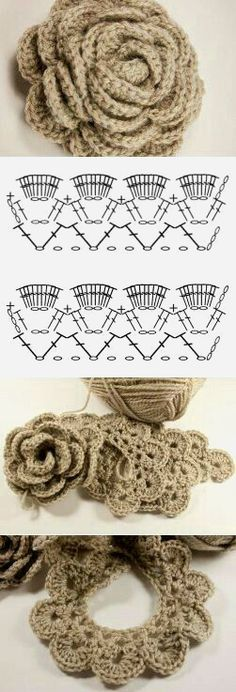 Crocheting a beautiful flower