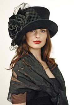 Elegant Steampunk~~love this hat...wish we wore more of them; I think they are stunning