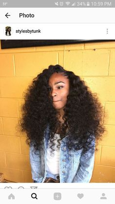 Long Haircut with Side Bangs - 40 Long Hairstyles and Haircuts for Fine Hair with an Illusion of Thicker Locks - The Trending Hairstyle Long Curly Hair, Big Hair, Curly Hair Styles, Natural Hair Styles, Hair Styles Weave, Curly Hair Sew In, Deep Curly, Locks, Brazilian Hair Bundles