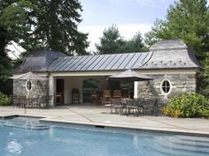 Slate roofed Pool House