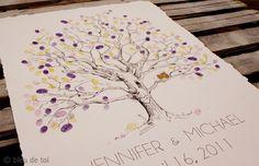 Image Detail for - ... Celebrations Sparkles: Guest Book Alternative: The Fingerprint Tree