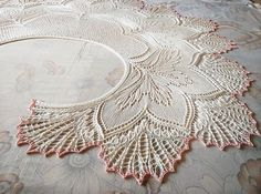 Crochet Lace Ravelry: Twinity Shawl pattern by Anne-Lise Maigaard - Another Niebling-inspired Nightmare before Xmas for you, lol! Shawl Patterns, Lace Patterns, Knitting Patterns, Crochet Patterns, Stitch Patterns, Crochet Ideas, Knitted Shawls, Crochet Shawl, Crochet Lace