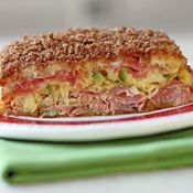 baked reuben casserole - comfort food! cut the number of slices of rye bread used to cut the carbs even further!