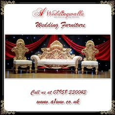"""""""There is no charm equal to tenderness of heart."""" A1 Weddingwalla presents decorative royal wedding furniture for #wedding #engagement #reception and much more. For booking call us at 07958 330043 or visit http://www.a1ww.co.uk."""