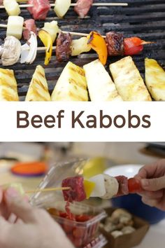 I love meat on a stick! This beef kabobs recipe is awesome and super duper easy to make. It is perfect for social gatherings, because people get to choose eactly what they want on each skewer. If I can do it, you can do it. Let's get grilling! Beef Kabob Recipes, Grilling Recipes, Bread Recipes, Baking Recipes, Dessert Recipes, Desserts, Beef Kabobs, Smoking Meat, Skewers