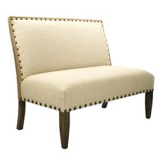 french country cottage linen banquette dining settee