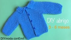 Abrigo de bebé a crochet ganchillo paso a paso