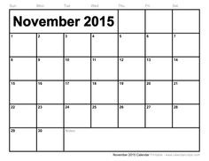 Feel Free to Download Nov 2015 Calendar With Holidays and November 2015. Nov Blank Calendar Printable Template, PDF Doc, MS Word, Excel, Page, Notes, Vector.
