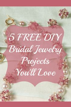 You can now create exactly what your heart desires for your special day with these 5 FREE handmade bridal jewelry projects! Beaded Wedding Jewelry, Wedding Jewellery Designs, Handmade Wedding Jewellery, Bridal Jewelry, Diy Jewelry Tutorials, Diy Jewelry Making, Jewelry Crafts, Jewelry Ideas, Beading Patterns Free