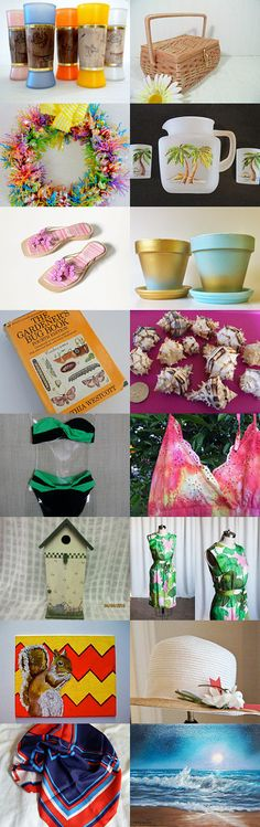 Summer Is Coming With TeamVintageUSA. by livingavntglife on Etsy--Pinned with TreasuryPin.com