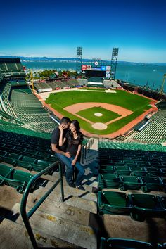 Baseball Engagement Pictures San Francisco Giants  Engagement Photo Shoot