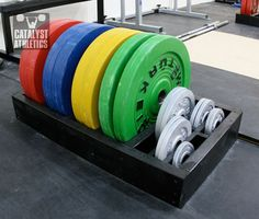 A tutorial to build quick, simple and cheap racks for holding bumper plates and change plates
