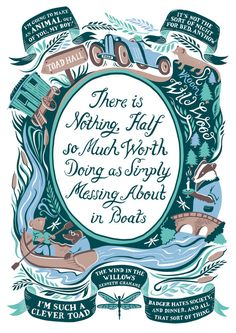 Incredibly detailed hand illustrated print filled with quotes and characters from a childhood favourite, Wind in the Willows.  This would be the