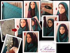 "Multi Pleated Hijab tutorial  ...the hijab used is ""Wild Teal"" http://www.ridaaz.co.nz/scarf-hijab/wild-teal-scarf/ from Ridaa'z, hijab no-snag pin from Ridaa'z http://www.ridaaz.co.nz/hijaab-accessories/hijab-pins-black-pack-of-5/ Pin wheel will be available soon at Ridaa'z Head band is from equip accessories. www.ridaaz.co.nz"