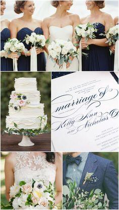 Elegant Navy Wedding Inspiration | Wedding Invitations