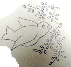 vintage bird embroidery pattern