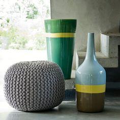 Vase en céramique et camaïeu de verts, La Redoute