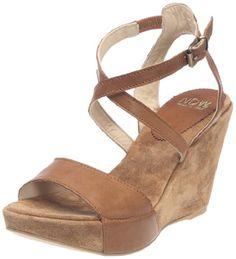 Zapatos de mujer. Mel 9548_Camel - Sandalias de cuero para mujer, color marrón