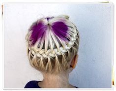 such a simple, awesome french braid halo! (looks harder than it is!)